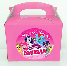 12X PRECUT LARGE PERSONALISED MY LITTLE PONY INSPIRED STICKERS (NO PARTY BOXES)