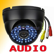 2.8mm AUDIO 1300TVL COLOR COMS IR-CUT 48IR OUTDOOR CCTV Dome Camera BLACK 58/