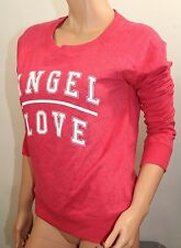 VICTORIA'S SECRET Women's Angel Crew Sweat Shirt Color Red Large NWT L-Sleeve