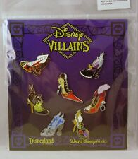 Disney Trading Pins VILLAINS SLIPPERS High Heeled Shoes Sealed Booster Set of 7