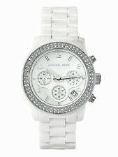 NEW MICHAEL KORS LADIES WHITE CERAMICA CRYSTALS WATCH MK5188 - 2 YEARS WARRANTY