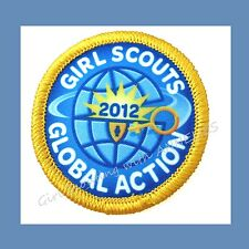2012 GLOBAL ACTION World Friendship Thinking Day Girl Scout Patch Combine Ship