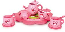 PINK WOODEN TEA SET ROLE PLAY TOY GIRLS GIFT BIRTHDAY PRETEND PLAY KITCHEN SET