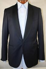 New Isaia Base 'S' Aquaspider 160'S Wool Navy Tuxedo Suit 54C/ US 44S - W38.