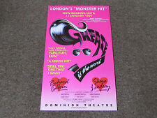 GREASE is the Word inc Richard Calkin & Shona Lindsay DOMINION Theatre Poster