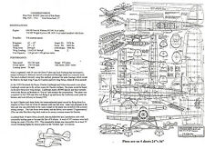 "1/12 Scale Lockheed Sirius (43"")   RC Plans,Templates and Instructions"