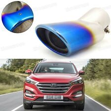 Blue Car Exhaust Muffler Tip Tail Pipe Trim for Hyundai Tucson 2016-2017 #5024