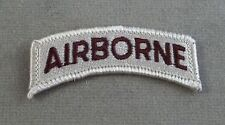US Army Desert Tan ( Spice ) AIRBORNE Patch Tab / New