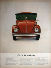 1969 VOLKSWAGEN - BEETLE - BUG - THE MOVIE STAR HERBIE THE LOVE BUG - PRINT AD!