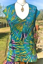 FAB NEW TURQUOISE VEST TOP UK SIZE 12 14 16  BOHO HIPPIE FESTIVAL YOGA DREADS