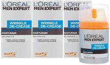 3 x 50ml LOreal Men Expert Wrinkle De-Crease Anti-Wrinkle Moisturiser