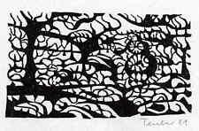 KLEIDER MACHEN LEUTE - 2 Orig.Linolschnitte v.Gottfried TEUBER ´81 Handsigniert