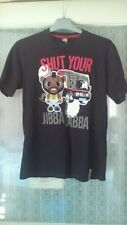 Children's black t shirt featuring 'shut your jibba jabba' age 13yrs 100%cotton