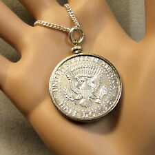 Segunda mano medio dólar de plata colgante de EE. UU.