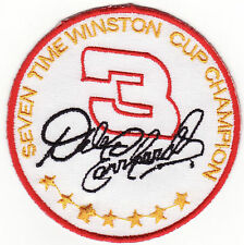 Dale Earnhardt 7 Time Winston Cup Champion NASCAR Patch