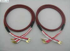 S01Bw(C) (1m 3ft) --- Pair HIFI Canare Bi-Wire Speaker Audio Cable 2 to 4 Spades