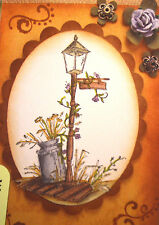 COUNTRY LAMP & MILK CAN Retired!! (U get photo #2) art impressions rubber stamps
