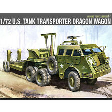 Academy 1/72 U.S TANK TRANSPORTER DRAGON WAGON Plastic Model Kit Armor #13409