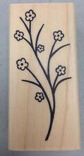 A MUSE Artstamps Amuse Rubber Stamps Flower Branch