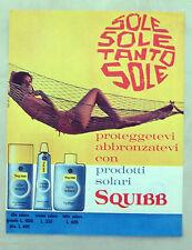 E305-Advertising Pubblicità-1963 - SQUIBB PRODOTTI SOLARI