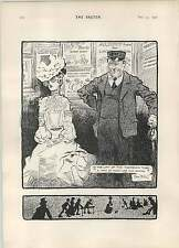 1902 Rene Bull Cartoon Lift Of The Twopenny Tube Riviera Notes