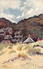 BR63541 barmouth the round house painting postcard  wales