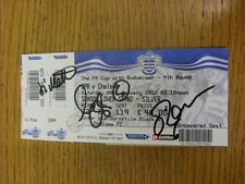 28/01/2012 Autographed Ticket: Queens Park Rangers v Chelsea [FA Cup] - Hand Sig