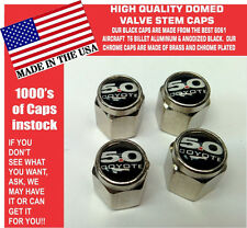 Chrome Ford 5.0 Black Coyote Mustang Cobra Shelby GT Valve Stem Caps - The Best