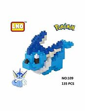 Anime Pokemon Vaporeon  Block Diamond Mini Building Toys Pocket Monster with Box