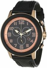 Citizen Eco-Drive AT2233-05E Leather Strap Chronograph Mens Watch NEW $275