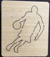 Basketball player wooden die fits Sizzix, Big shot , Big shot pro machines