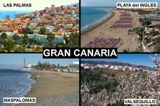 SOUVENIR FRIDGE MAGNET of GRAN CANARIA CANARY ISLANDS SPAIN