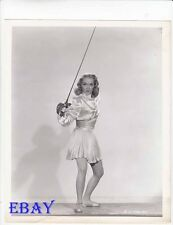 Gloria Henry busty leggy w/sword VINTAGE Photo