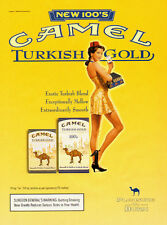 2000 magazine Ad, CAMEL 'Turkish Gold' Cigarettes, Pinup Cigarette Girl -110713