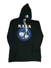 PRIMARK OFFICIAL LADIES WOMENS NASA SPACE LOGO BLACK HOODIE JUMPER SWEAT BNWT 12
