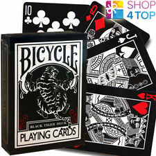 ELLUSIONIST BLACK TIGER RED PIPS BICYCLE PLAYING CARDS DECK MAGIC TRICKS USPCC