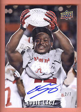 2013 Quantum Images #EL Eddie Lacy On Card Autograph #2/7 ALABAMA CRIMSON TIDE