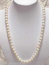 Pretty 7-8mm White Akoya Cultured Pearl Necklace 25""