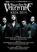 """BULLET FOR MY VALENTINE """"ASIA 2014"""" CONCERT TOUR POSTER - Metalcore Music"""