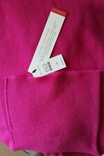 TALBOTS WOMEN'S  PURE CASHMERE TURTLE NECK SWEATER RICH MAGENTA  Size M NWT $159