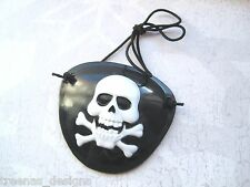 *PIRATE SKULL X BONES EYE PATCH* Black White HALLOWEEN UNISEX Fancy Dress PIRATE