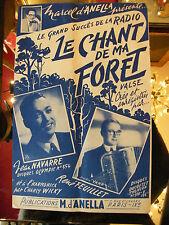 Partition Le chant de ma Forêt Valse Jean Navarre René Feuillet Music Sheet