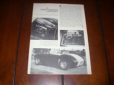 CROSLEY SPECIAL - SPORTS CAR  ***ORIGINAL 1959 ARTICLE***