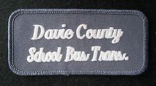DAVIE COUNTY EMBROIDERED SEW ON PATCH SCHOOL BUS TRANSPORTATION UNIFORM