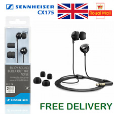 CX175 - Sennheiser In-Ear Earphones Headset Headphones 2 Year Warranty (NEW)