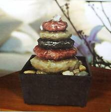 Bubbler Indoor Fountain Calming Flowing Water Faux Stone Batteries Included NIB