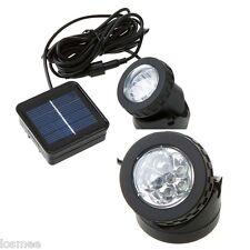 Solar Powered LED Spotlight Outdoor Garden Pool Waterproof Spot Light Lamp White