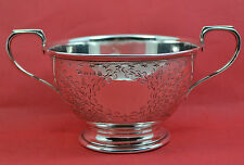 super sterling silver Art Nouveau sugar bowl engraved flower detail 1912 J G ltd
