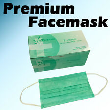 50 PC 3-ply Green Premium Dental Surgical Medical Disposable EarLoop Face Mask