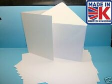 100 A5 350gsmWHITE GREETING CARD BLANKS WITH ENVELOPES